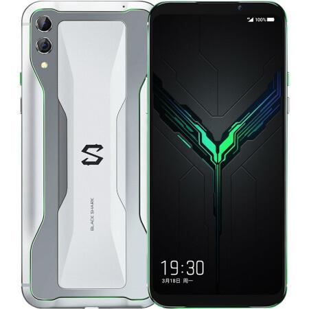 性价比神机黑鲨 黑鲨游戏手机2 新品电竞 冰封银 12G+2?仅售3248.00元